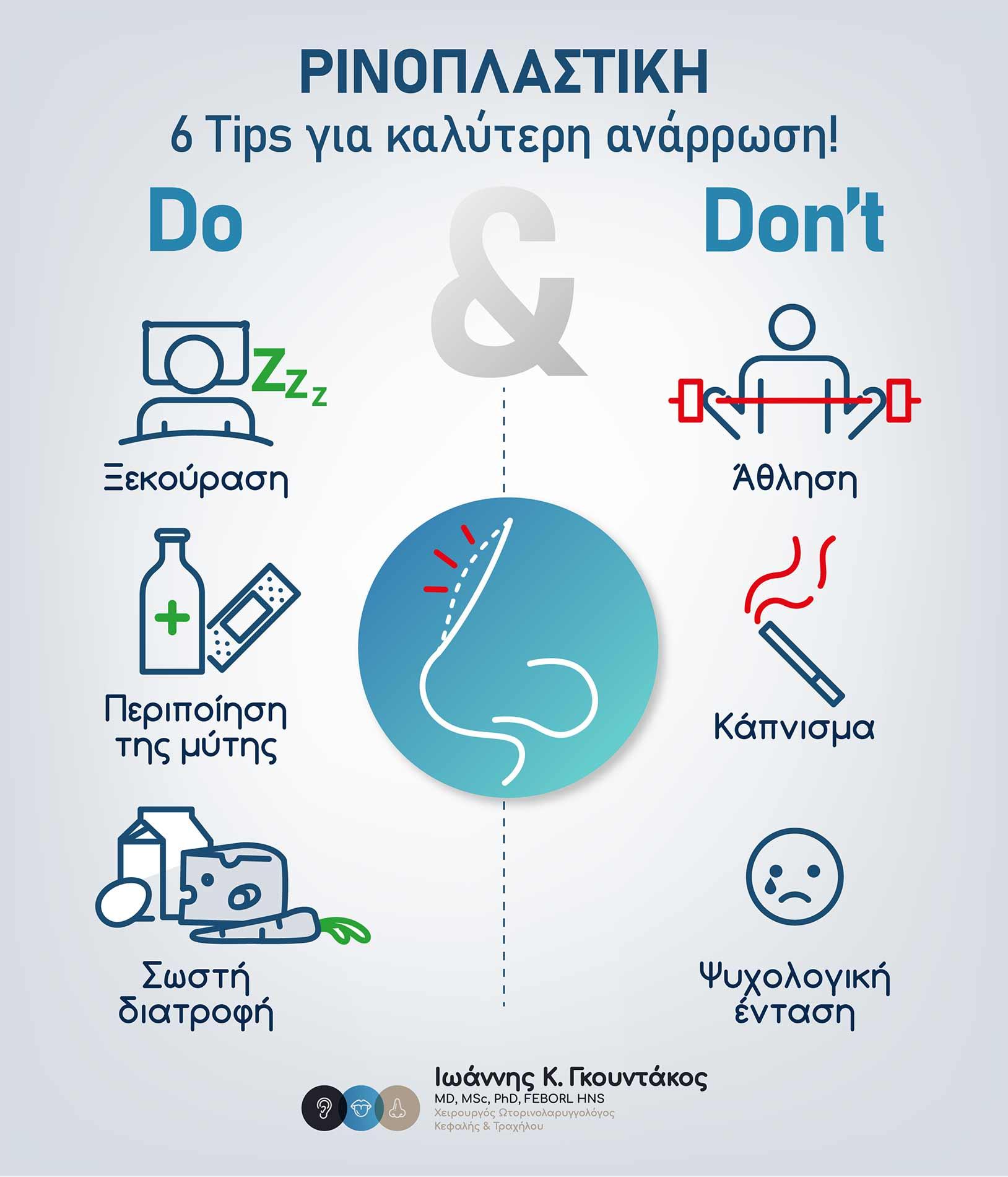 6 tips ανάρρωσης μετά από ρινοπλαστική